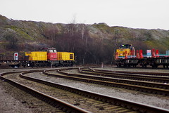 Norwegian Exiles (West Halton Sidings) Tags: scunthorpe scunthorpesteelworks norwegianstaterailways di8 8704 8719 steelworks diesellocomotive diesel dieselshunter industrial industriallocomotive industrialrailway lincolnshire northlincolnshire applebyfrodingham tata britishsteel
