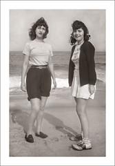 Portrait 075-29 (Steve Given) Tags: socialhistory familyhistory girls teens teenagers beach shorts