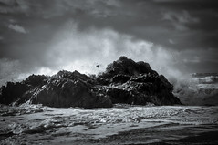 Storm Brian (Alan E Taylor) Tags: anglesey atmospheric bw bay beach blackwhite blackandwhite cloud coast coastal dark dramatic europe fineart landscape lightroom macphun macphuntonalityck mono monochrome noiretblanc ocean rain rock sand sea shore sky skylum storm tourism tourist travel uk unitedkingdom wales water wave weather welsh britain british coastline seascape spindrift spray