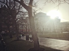 20180220 Another day another dollar (an_extract_of_reflection) Tags: morning sunlight sunbeam belfast iphone