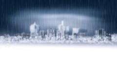 Winter City (chiaralily) Tags: chiaralily landscape winter cold white rain snow bokeh melbourne victoria australia city cityscape digital artwork explored