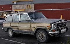 McClassic (tishpitt1) Tags: vintagecar jeep jeepgrandwagoneer classiccar woodgraintrim oldcar mcdonalds fastfood parkinglot relic ricohcx3