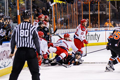 "Kansas City Mavericks vs. Allen Americans, February 24, 2018, Silverstein Eye Centers Arena, Independence, Missouri.  Photo: © John Howe / Howe Creative Photography, all rights reserved 2018 • <a style=""font-size:0.8em;"" href=""http://www.flickr.com/photos/134016632@N02/40458431392/"" target=""_blank"">View on Flickr</a>"