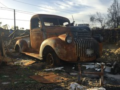Every River Will Burn (nedlugr) Tags: california ca usa ventura venturacalifornia thomasfire victim chevrolet chevy 1942chevroletpickup thewalkabouts everyriverwillburn rust destruction