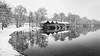 Winter landscape (hjuengst) Tags: ammersee lake stegen bavaria bayern tree baum hütte hut reflection reflektionen nikond7200 blackandwhite schwarzweis