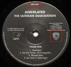 Anihilated The Ultimate Desecration A0284 (vinylmeister) Tags: vinylrecords albumcoverphotos gramophone lp heavymetal thrashmetal deathmetal blackmetal vinyl schallplatte disque album nwobhm