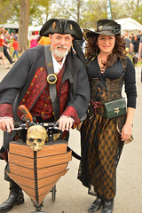 Giving up the peg leg for a ship! (radargeek) Tags: medievalfair normanmedievalfaire2017 2017 april norman reavespark costume couple pirate skull