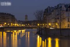 Tour Saint Jacques (Lonely Soul Design) Tags: notre dame paris long exposure longexpo tower saint jacques pont de tournelle bridge france reflections water la seine flood