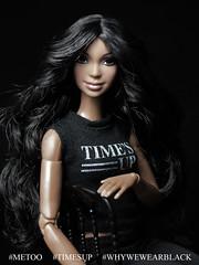 #TIMESUP #WhyWeWearBlack  #MeToo (davidbocci.es/refugiorosa) Tags: timesup whywewearblack metoo barbie mattel fashion doll muñeca refugio rosa david bocci ooak alma golden globe