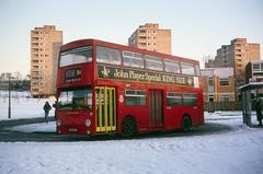 Roehampton, Danebury Avenue (DaveAFlett) Tags: dms daimler fleetline jgf252k londontransport