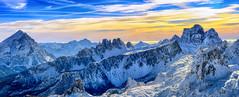 Tattile (Gio_ guarda_le_stelle) Tags: dolomiti dolomiten dolomites sunrise sky clouds cielo lagazuoi mountainscape mountain snow italy cool panorama respiro orizzonte nuvole