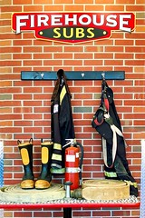 Firehouse Subs (redhorse5.0) Tags: firehousesubs restaurant food sandwiches rubberboots firehose fire fireextinguisher nozzle redsuspenders redhorse50 sonya850 keys
