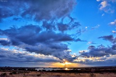 Atardecer Tablas de Daimiel (Peideluo) Tags: water nature sky clouds landscape cielo naturaleza agua anochecer