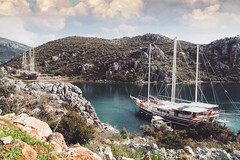 Emerald Green (u c c r o w) Tags: marmaris uccrow bozburun sailing sail sailboat emerald green bay seaside landscape turkey turkish türkiye türkei mountains mediterranean mediterraneansea aegean ship vessel boat