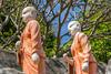 J4. Dambulla - Temple dorée (Darth Jipsu) Tags: colorfull sacred landmark srilanka buddha shrine religion unesco buddhism statue orange ceylon golden ceylan architecture monk gold historic temple dambulla centralprovince lk