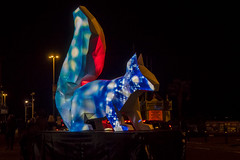 the squirrel (Mark Rigler -) Tags: poole quay light up dave lynch squirrel