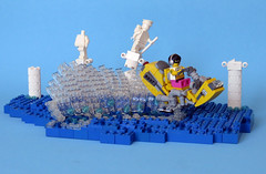 TheGhost1 (Shmails) Tags: lego speeder bike water statues splash contest