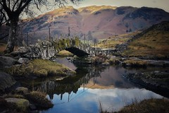 Slaters Bridge, Little Langdale (Nige H (Thanks for 12m views)) Tags: nature landscape lakedistrict slatersbridge littlelangdale cumbria england bridge reflection fells cumbrianfells britain coutryside beautifulbritain