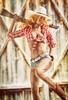 Cowgirl I (Mr Action Figure) Tags: 16 16scale phicen tbleague femalefigure female cowgirl shotgun barn boots cowboyhat western farm denimshorts muddy dirty