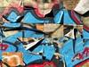 Transitional States (JamesAnok || ThetaState) Tags: plywood grid urban transition spraypaint paper peeling january 2018 graffiti streetart canada ontario toronto