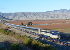 Amtrak Helps Out (MikeArmstrong) Tags: amtrak pacific surfliner passenger train railroad san luis obispo caltrans 2052 dash8 p32bwh california edna valley 101 closure