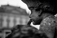 Stone Musican (M-Z-Photo) Tags: würzburg bayern deutschland de statue schwarzweis detailaufnahme residenz hofgarten