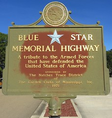Blue Star Memorial Highway Marker (Pike County, Mississippi) (courthouselover) Tags: mississippi ms pikecounty bluestarmemorialhighway roadsideamerica northamerica unitedstates us