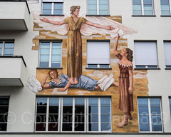 Building Mural (1942) by W.E. Müller, Bahnhofstrasse 17, Küssnacht am Rigi, Schwyz, Switzerland (jag9889) Tags: 2018 20180204 6403 architecture art artwork bahnhofstrasse building ch cantonschwyz cantonofschwyz centralswitzerland europe facade helvetia house innerschweiz kantonschwyz kuessnacht küssnacht küssnachtamrigi mural outdoor painting sz schweiz schwyz suisse suiza suizra svizzera swiss switzerland wall window women zentralschweiz jag9889
