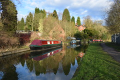 Reflections and Shadows (davidvines1) Tags: canal boat cauldoncanal froghall staffordshire waterway reflection landscape shadow