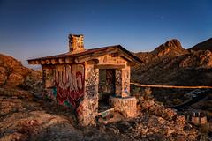 Sunset Light (KPortin) Tags: sunset graffiti house hills road lighttrails desert tucson arizona explore stars sky mountains