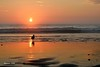Las aves se van con el sol (Berni NM) Tags: sunset blue orang playas beach pacificocean seagull silohuette atardecer