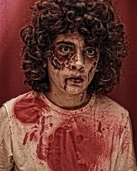 Zombie ♀️ Kid (Cindy Roy's Photography) Tags: portrait cool art red zombies zombie picture face people artistic 7dwf abandoned