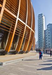 Of Wood, Steel n'Glass # 3 (schreibtnix on 'n off) Tags: reisen travelling italien italy mailand milan architektur architecture himmel sky blau blue vertikal vertical futuristisch futuristic ofwoodsteelnglass olympuse5 schreibtnix