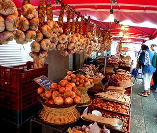 Street Market, Piegut-Pluviers, Dordogne, France