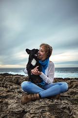 Jojo (Alexandremqs) Tags: dogs pets status portugal portrait perro photography pose puppy photoshoot bulldog friendship french feeling freedom frenchie yourbestoftoday doglove lovrly lovely animal woman blond clouds ocean rocks scene