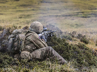 The Household Division on the Onion Range, Falklands