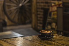 Back in the Olden Time ☕️ (satochappy) Tags: cafe coffee café cafeonceuponatime retro antique furniture cappuccino tamron oldies vintage