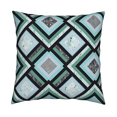 34-1024-1024-l (vannina_sf) Tags: pillow cushion roostery artdeco stone marble geometric pattern argyle diamond square blue turquoise home interior deco