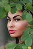 Hidding... (MiliRadeva) Tags: tree leaves girl woman behind hide portrait green leaf