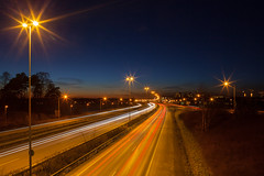 Rush Hour (Antti Tassberg) Tags: lighttrail 24mmts espoo liikenne tie yö longexposure länsiväylä 24mm dark lens lowlight night nightscape prime road tiltshift traffic uusimaa finland fi