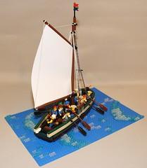 Artillery Sloop No. 1 (Beorthan) Tags: bobs bombvessel corrington gunboat eurobricks lego