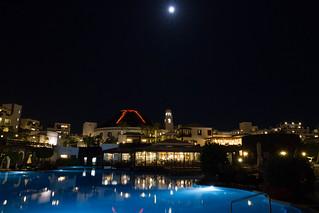 Hotel Volcan at night