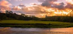 Bolton Abbey (sidrog28) Tags: bolton abbey sun set bradford yorkshire dales ruins stream river church clouds uk