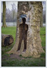 Le Passe-platane (afantelin) Tags: braysurseine seineetmarne iledefrance sculpture silhouette tronc homme platane seine rivière vide