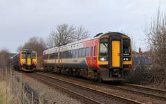 East Midlands Trains 158813 - Mansfield Woodhouse (the mother '66' 66001) Tags: eastmidlandstrains class158 158813 mansfield mansfieldwoodhouse robinhoodline railways nottinghamshire