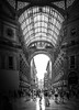 Shopping in Milan (stefanblombergphotography.com) Tags: blackandwhite city colors light milan milano mono people shopping silhouette sonynex street urban white black bw cityscape shadow