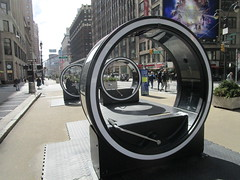 The LOOP Portable Zoetropes on Broadway NYC 7691 (Brechtbug) Tags: loop flip book style zoetropes broadway nyc optical animation with sound that you operate by moving roll bar back forth like gym equipment animations film motion picture movie illusion giant wheel wheels futuristic past nickelodeon art sculpture interactive outdoors loops hand operated drawn drawings play ground portable big zoetrope pop up