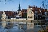 Different houses (pierre bakker) Tags: makkum friesland netherlands nl reflection ice ijs stad reflectie fryslân huizen huis houses house