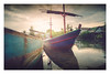 Anchored (Alex E. Milkis) Tags: thailand kohsamui boats sail river reflection sunset colors d810 nikon 2470 post clouds sky