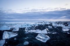 Diamond Beach (bailes.joseph) Tags: ice iceberg beach black sand iceland winter travel